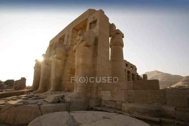 Palazzo Ramesseum durante il giorno — Foto stock