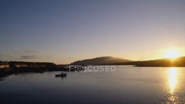 Coucher de soleil sur île de Valentia — Photo de stock