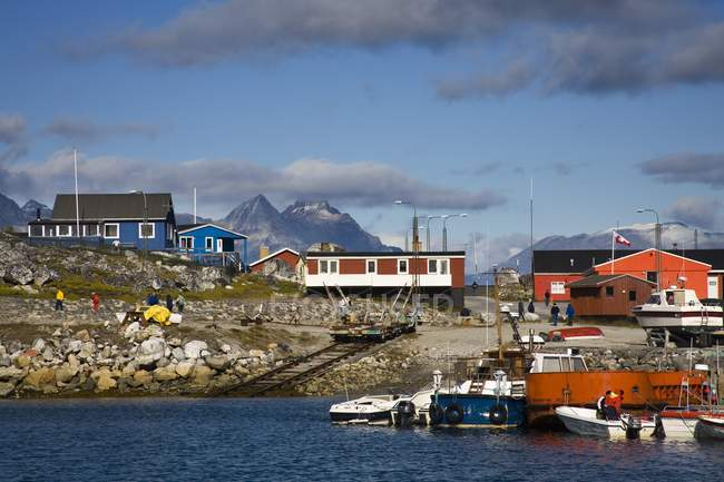 Town On Southern Tip Of Greenland — Stock Photo