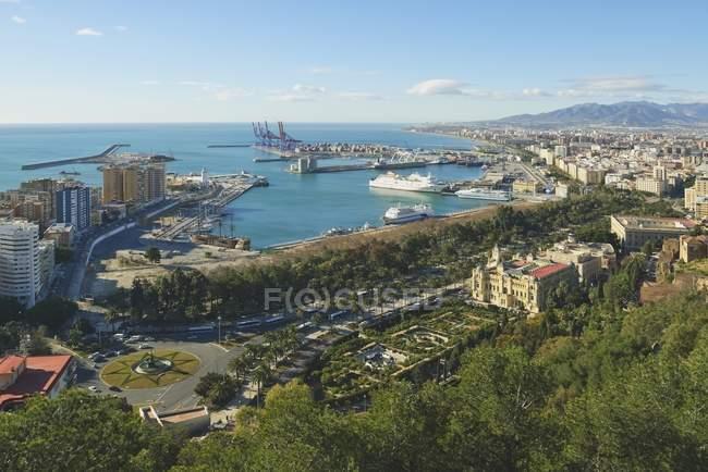 Vista aérea de Málaga - foto de stock