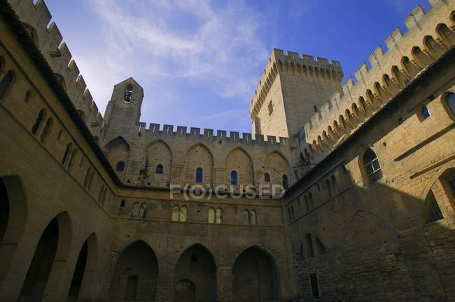 The Papal Palace In Avignon — Stock Photo