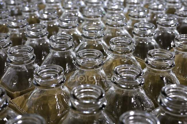 Empty Glass Jars, full frame — Stock Photo