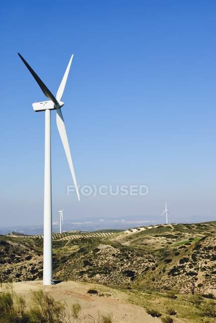 Wind Turbines against a blue sky — Stock Photo
