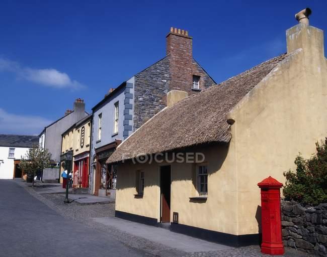 Veduta delle case in Irlanda — Foto stock