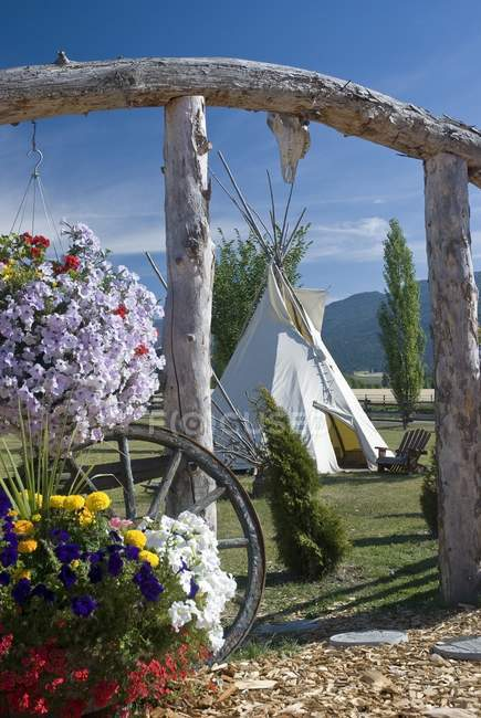 Indian Tepee in Canada — Stock Photo