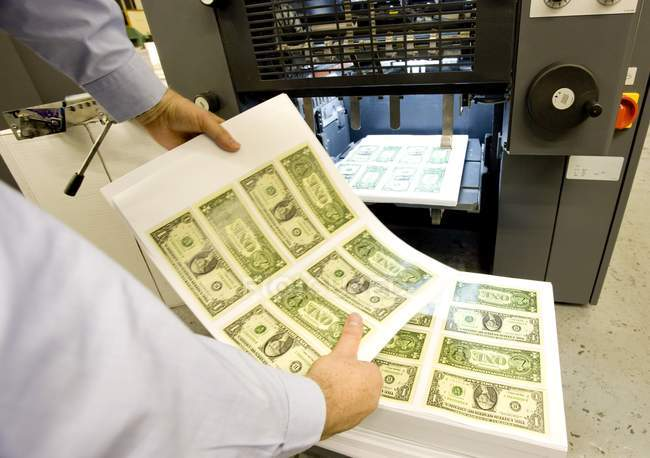 Fogli di soldi americani — Foto stock