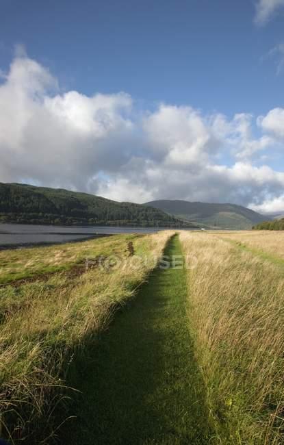 Pathway, Loch Sunart, Highland — Stock Photo
