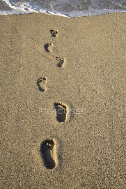 View of Footprints In Sand — Stock Photo