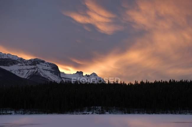 Herbert lago, Parque Nacional de Banff — Fotografia de Stock