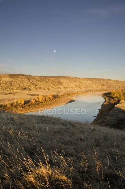 Red Deer River In Morgen — Stockfoto