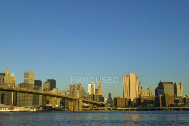 Vue en rotin de New York — Photo de stock
