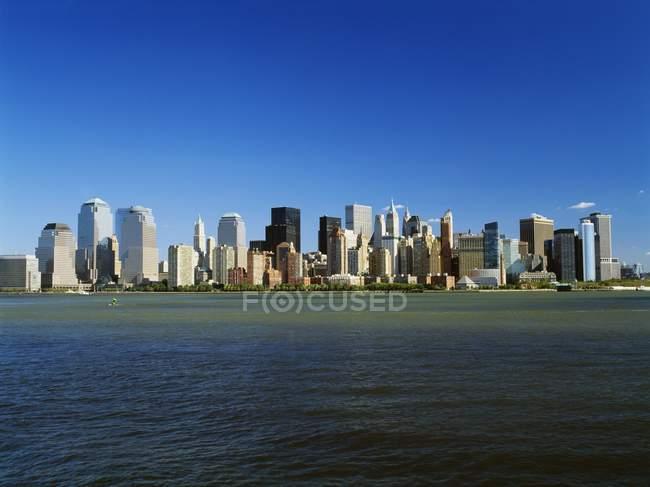 Manhattan Skyline In New York — Stock Photo