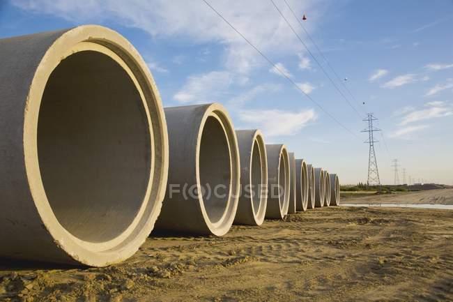 Kanalrohre fertig — Stockfoto