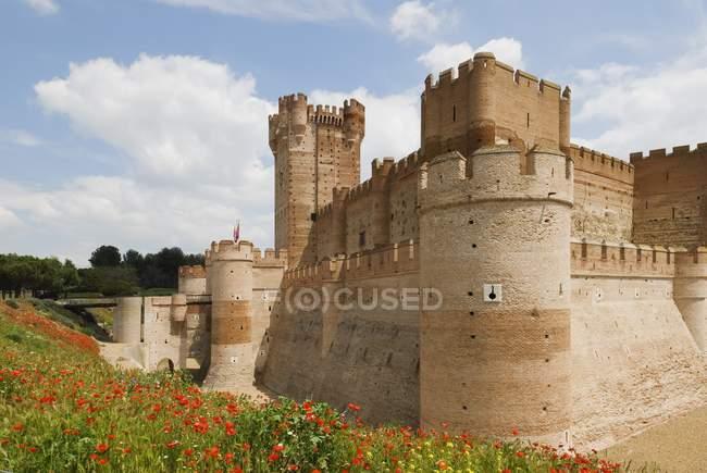 Замок La Mota — стокове фото