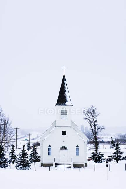 Steeple Church In Winter — Stock Photo