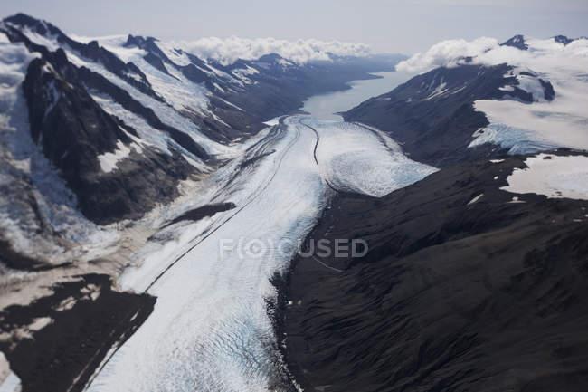 Mccarty glacier, mccarty fjord, kenai fjords nationalpark; alaska, vereinigte staaten von amerika — Stockfoto