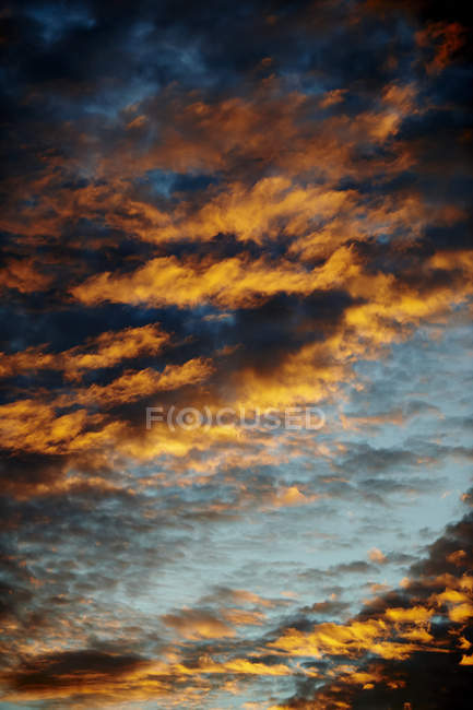 Dramatic Glowing Dark Clouds In The Sky; Canada — Stock Photo
