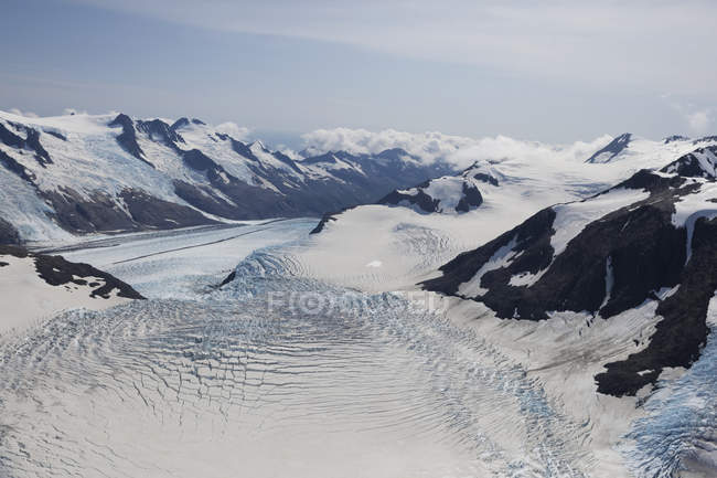 Chernof Glacier And Mccarty Glacier, Harding Ice Field, Kenai Fjords National Park; Alaska, United States Of America — Stock Photo