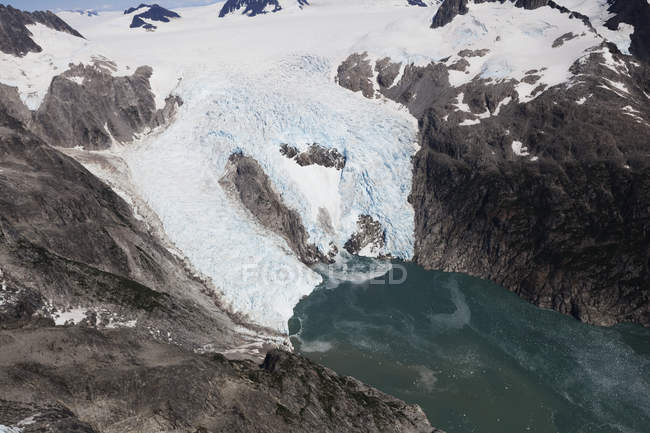 Nordwestlicher Gletscher, kenai fjords nationalpark; alaska, vereinigte staaten von amerika — Stockfoto