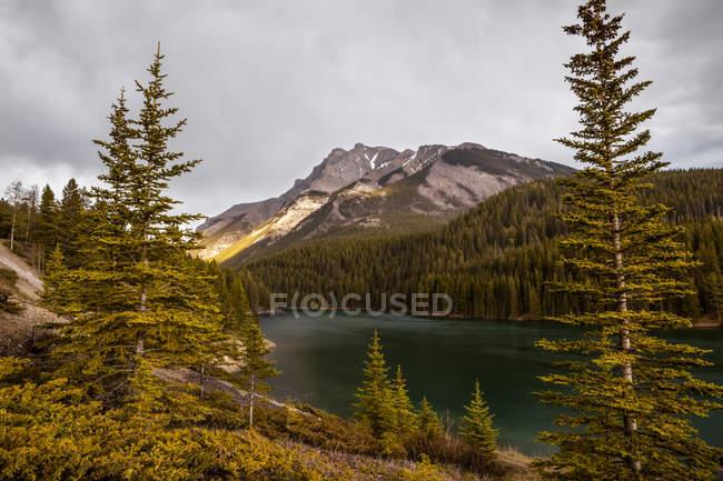 Montagnes de l'Alberta et des lacs; Alberta, Canada — Photo de stock