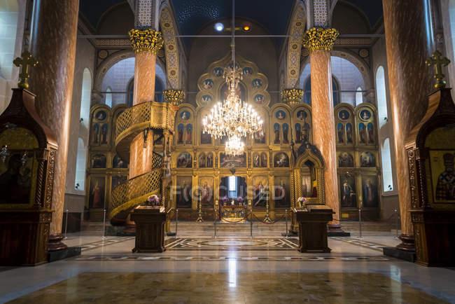 A Church interior In The Centre Of Sarajevo; Sarajevo, Bosnia And Herzegovina — Stock Photo