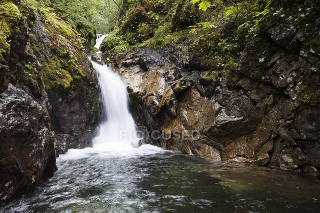 Водопад на реке скалистые, Кенай; Аляска, Соединенные Штаты Америки — стоковое фото