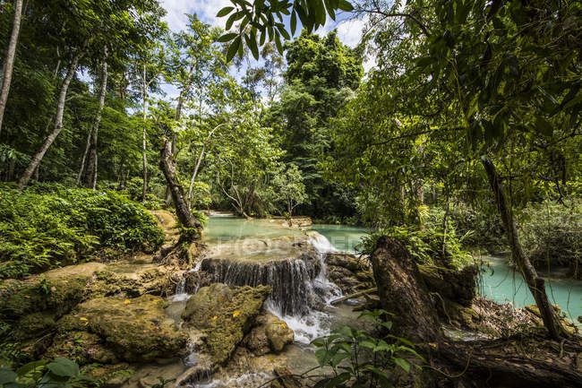 Kuang Si Falls; Luang Prabang, Laos — Stock Photo