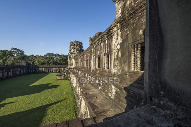 Eastern gallery, Angkor Wat; Siem Reap, Cambodia — Stock Photo