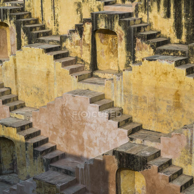 Close up view of Stepwell; Jaipur, Rajasthan, India — Stock Photo