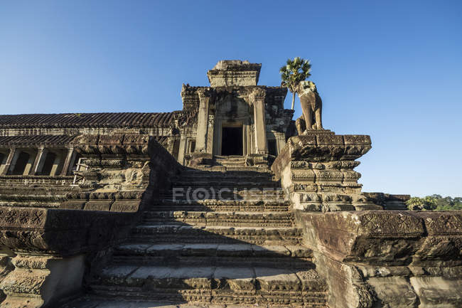 West Gallery of the main temple complex of Angkor Wat; Siem Reap, Cambodia — Stock Photo