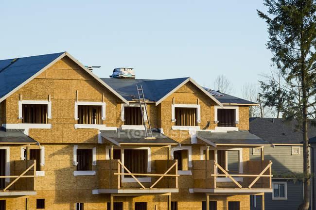 Nuova costruzione di case in un quartiere, Langley, British Columbia, Canada — Foto stock