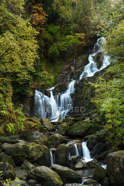 Cascata di Torc nel Killarney National Park; Killarney, contea di Kerry, Irlanda — Foto stock