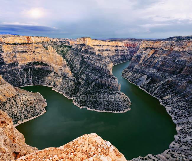 Перегляд Bighorn Каньйон від Каньйон Диявола не звертають уваги, Bighorn Каньйон національної відпочинку; Монтана, Сполучені Штати Америки — стокове фото