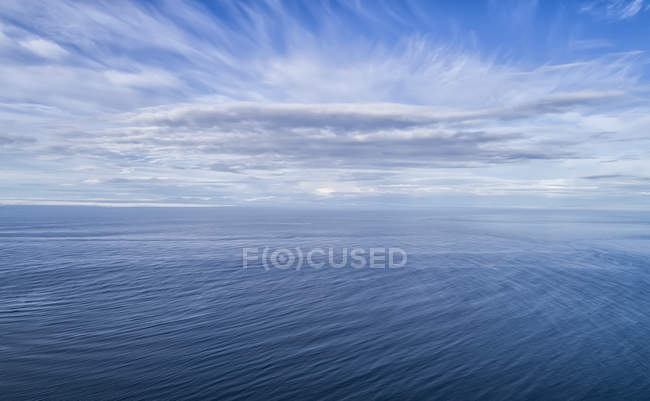 Clouds over the blue waters of the North Atlantic; Iceland — Stock Photo
