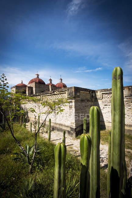 Археологічні розкопки мітла в штаті Оахака, мітла, Oaxaca, Мексика — стокове фото