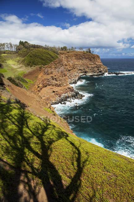Majestuosa vista de la hermosa costa junto a la costa de Kohala del norte, Hawi, Kapaau, isla de Hawai, Hawai, Estados Unidos - foto de stock