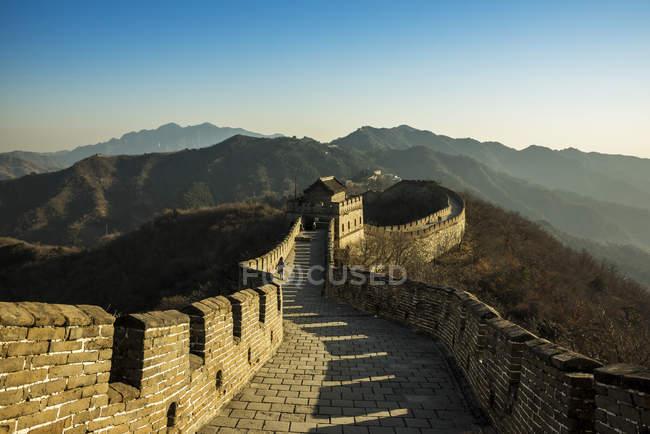 The Great Wall of China; Mutianyu, Huairou County, China — Stock Photo