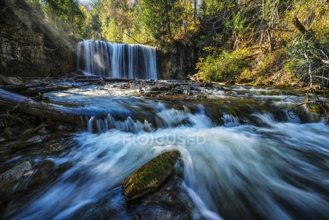 Scenic view of Hoggs Falls, Flesherton, Ontario, Canada — Stock Photo