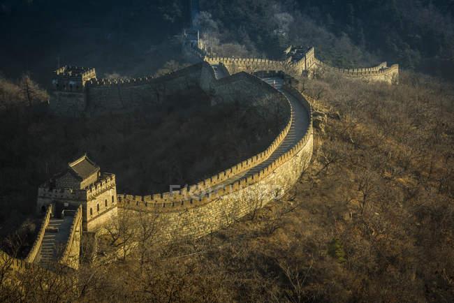 Велика Стіна; Mutianyu, Huairou повіту, Сполучені Штати Америки — стокове фото