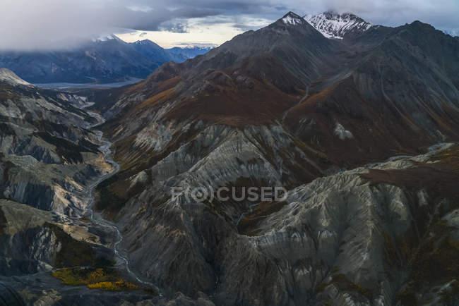 Veduta aerea dei ghiacciai e delle montagne del Kluane National Park and Reserve, vicino a Haines Junction, Yukon, Canada — Foto stock