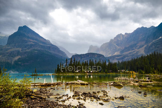 Vista panoramica sul lago OHara, Yoho National Park, British Columbia, Canada — Foto stock
