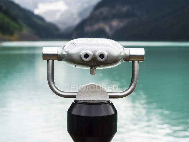Binocular at Lake Louise, Banff National Park; Alberta, Canada — стокове фото