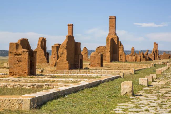 Ruinen von Offiziersquartieren, Fort Union Nationaldenkmal; Neu-Mexiko, Vereinigte Staaten von Amerika — Stockfoto