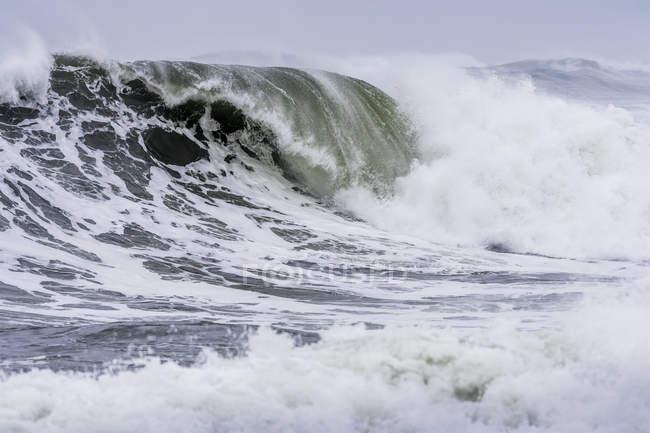 Sturmwelle an der Bucht am Meer an der oregonischen Küste; am Meer, oregon, vereinigte Staaten von Amerika — Stockfoto