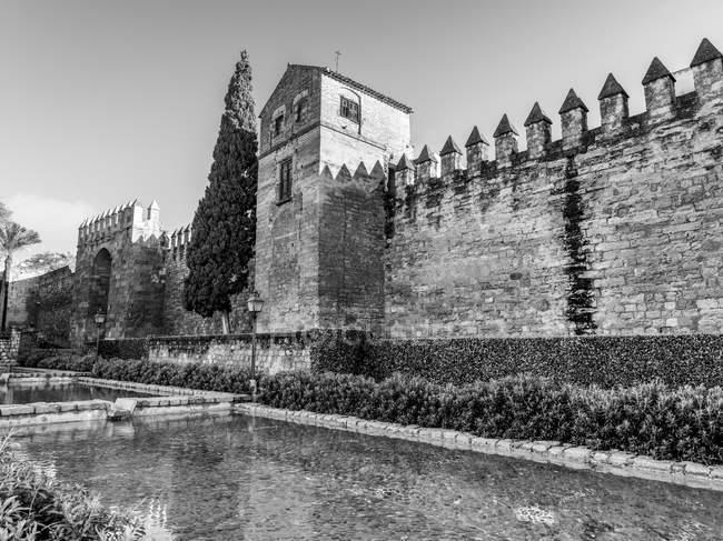 Muralhas romanas de Córdoba; Córdoba, Andaluzia, Espanha — Fotografia de Stock