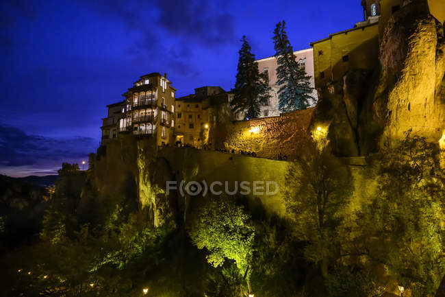 Casas penduradas de Cuence; Cuenca, Espanha — Fotografia de Stock