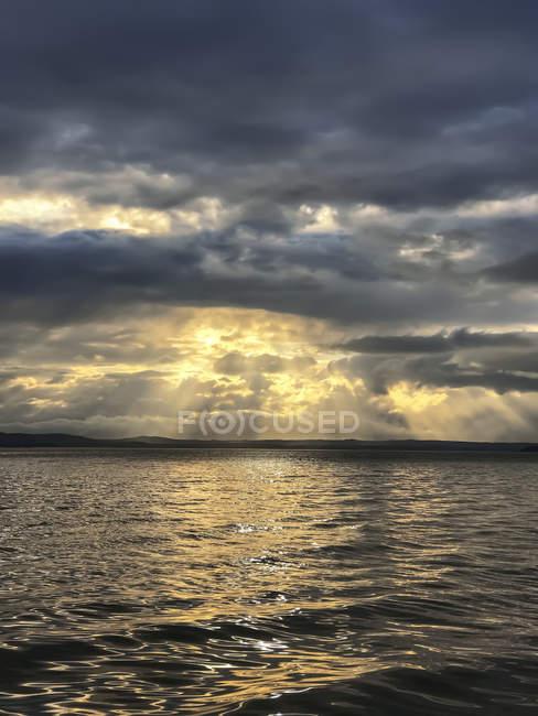 Auke Bay at sunset, Juneau, Alaska, United States of America — стокове фото