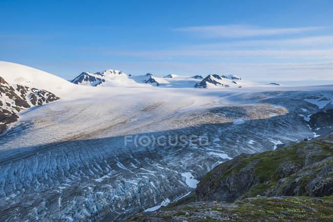 Vista panoramica del maestoso paesaggio del Parco Nazionale dei Fiordi Kenai, Alaska, Stati Uniti d'America — Foto stock