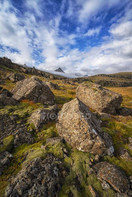 Величественный скалистый пейзаж полуострова Снефеллнесс; Исландия — стоковое фото