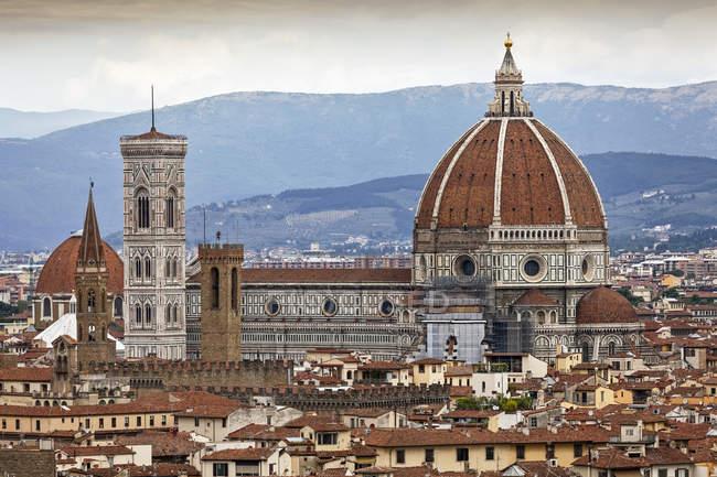 Vista de Florença, incluindo a Catedral de Florença; Florença, Itália — Fotografia de Stock